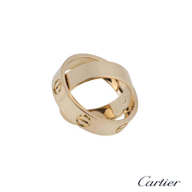 Cartier 18k Rose Gold Spicy Love Ring B&P
